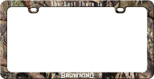 Browning License Plate Frame - W-logo And Buckmark Camoflage<
