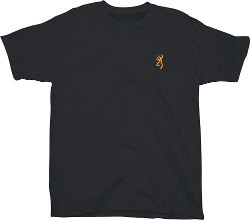 Bg Men's T-shirt W-buck Mark - Logo Small Black<