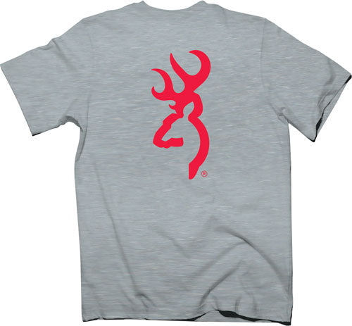 Bg Men's T-shirt Red Buckmark - Xx-large Heather Gray<