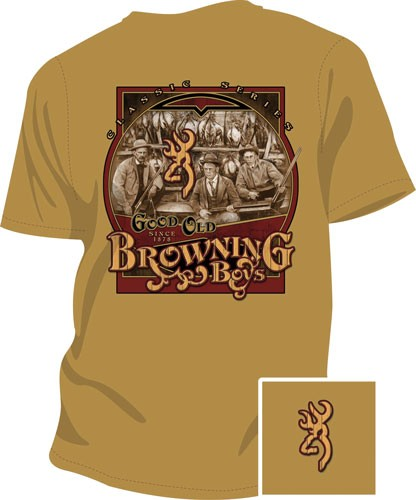 Bg Men's T-shirt Good Old Boys - Small Gold W-bg Logo<