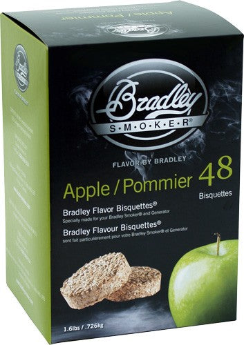 Bradley Smoker Apple Flavor - Bisquettes 48 Pack