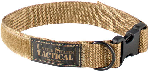 "Us Tactical K9 Collar Quick - Release Buckle Med 18"" Coyote"