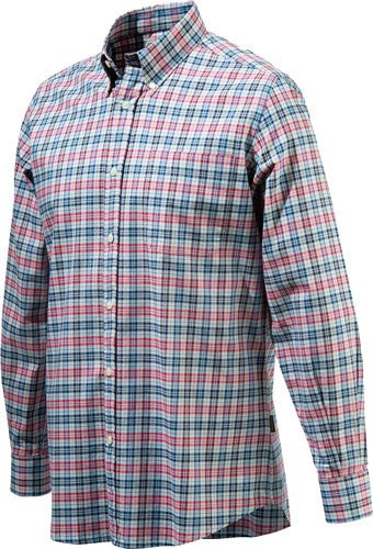 Beretta Men's Drip Dry Long - Sleeve White Fancy Medium