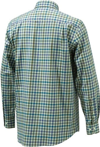 Beretta Men's Drip Dry Long - Sleeve Beige Check Medium