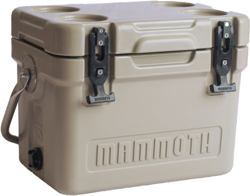 Mammoth Cruiser Series Coolers - 15 Quart Tan-tan W-handle