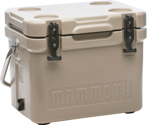 Mammoth Cruiser Series Coolers - 25 Quart Tan-tan W-handle