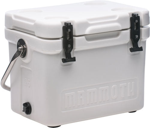 Mammoth Cruiser Series Coolers - 25 Quart White-white W-handle