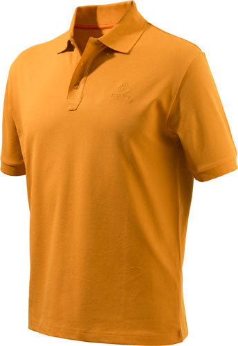 Beretta Men's Corporate Polo - Orange Gold Xl W-trident Logo