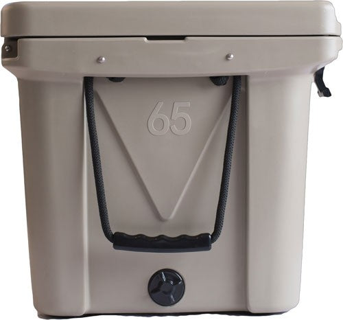 Mammoth Ranger Series Coolers - 65 Quart Tan W-rope Handles