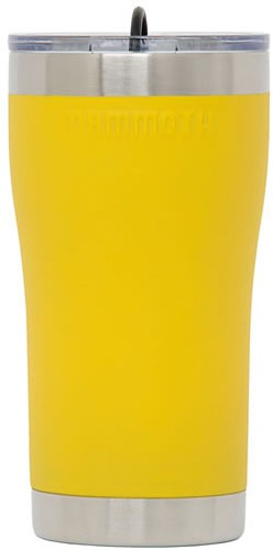 Mammoth 20 Oz Ss Yellow - Tumbler W-lid & Rubber Stopper