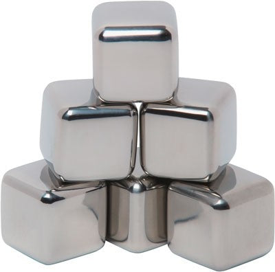Mammoth Ice Bergs Stainless - Steel Ice Cubes 6-pack