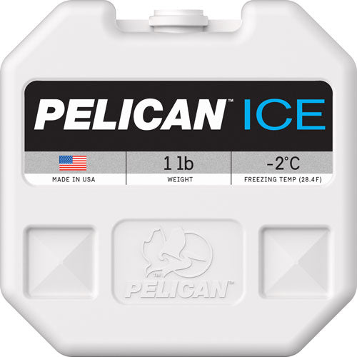 Pelican 1ib Ice Pack White - Reusable