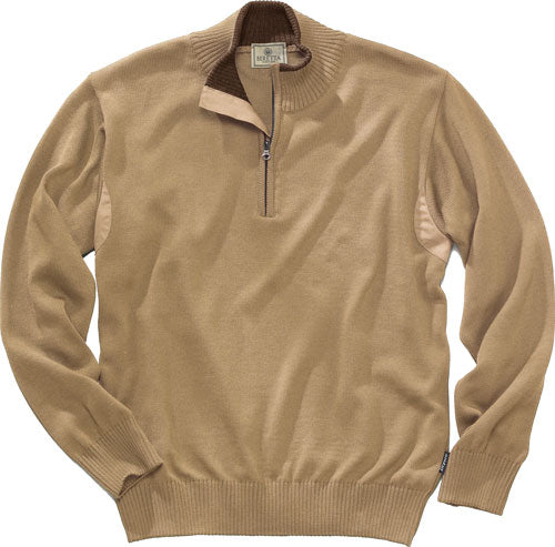 Beretta Men's Pp Tech Wool 1-2 - Zip Sweater Beige Small