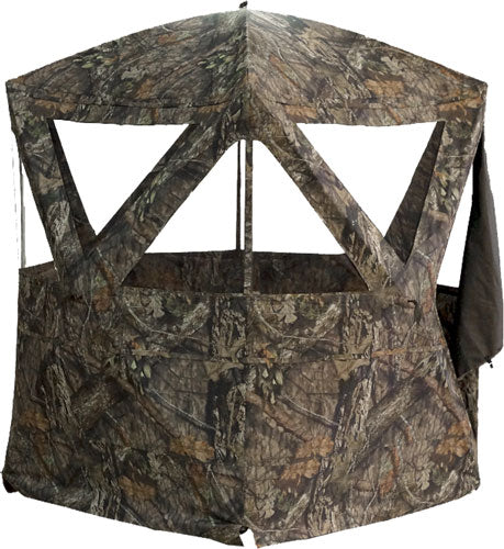 "Rhino Ground Blind Mossy Oak - Country 77""x77""-hub 78""-tall"