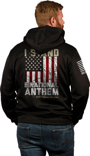 Nine Line Apparel I Stand Mens - Tailgater Hoodie Black Small