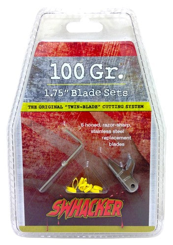 "Swhacker Replacement Blades - 2-blade 100gr 1.75"" Cut 6-pk"