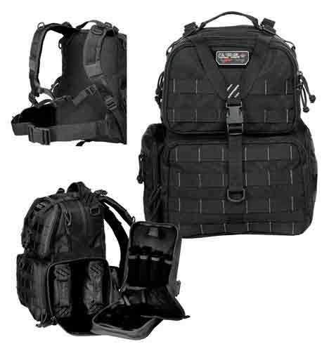 Gps Tactical Range Backpack - W-waist Strap Black Nylon