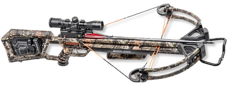 Wicked Ridge Crossbow Kit - Invader X4 Acudraw 50 360fps