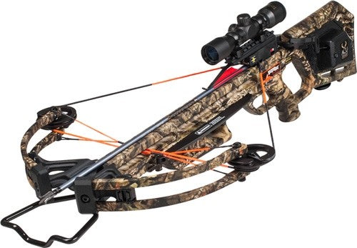Wicked Ridge Crossbow Kit - Invader X4 Acudraw 360fps Camo