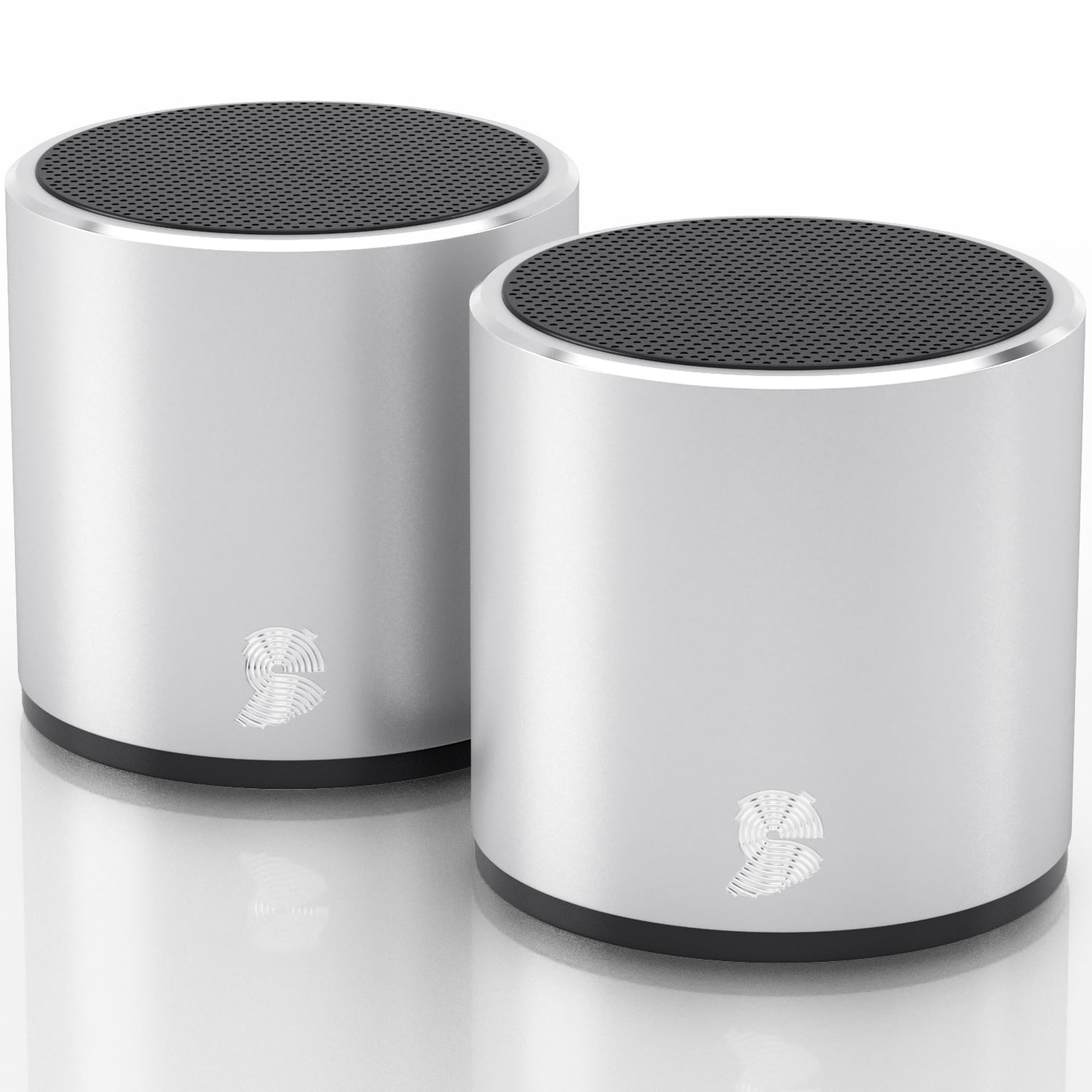HeadSound H2 Bluetooth Wireless Dual Speakers with Built In Mic for HandsFree Phone Calls
