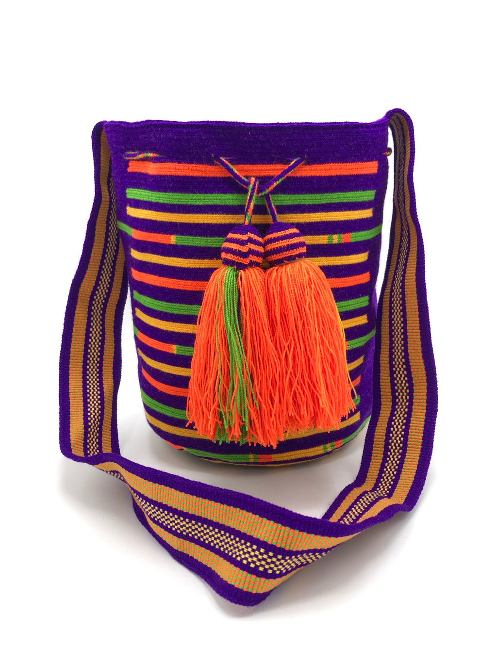 Wayúu crossbody bag handmade 100% genuine vegan boho colourful colourful Wayuu mochila