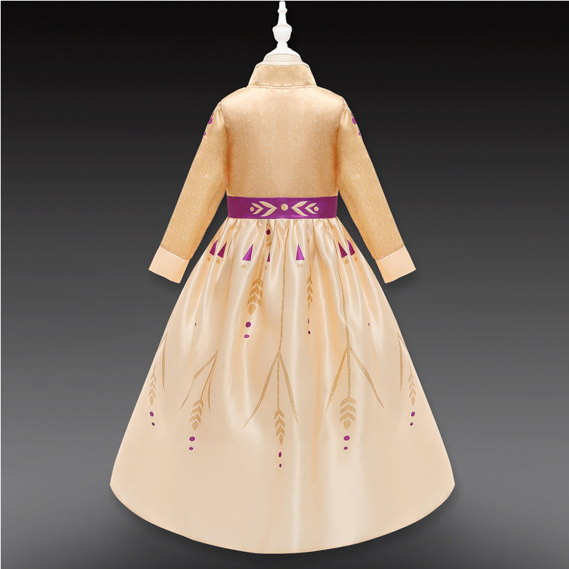 Frozen 2 Princess Anna Costumes Prologue Girls Dresses For Holiday Party