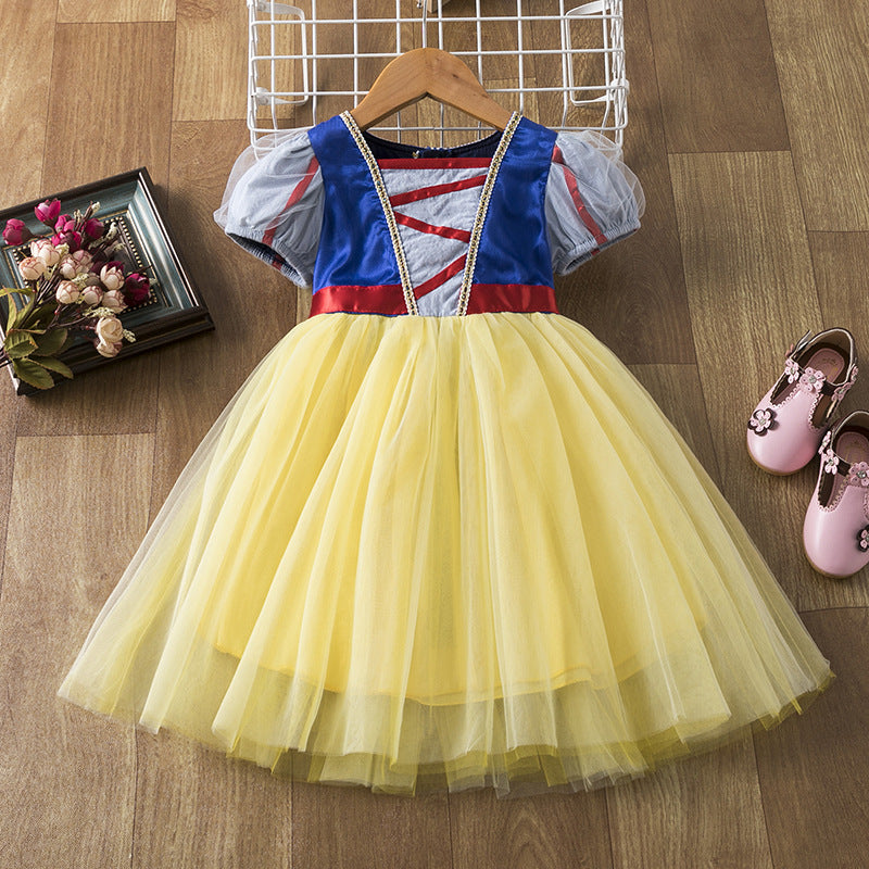 New Toddler Girls Costume Dresses Snow White Princess Cosplay For Holiday Party dance