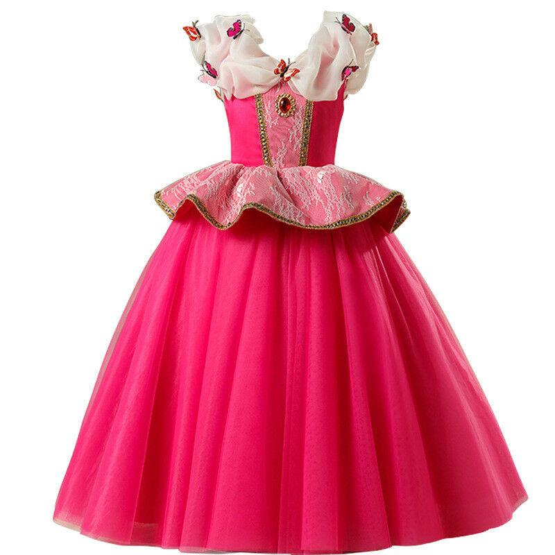 New Girls Costume Dresses Aurora Princess Cosplay Party Holiday Halloween Fancy Dress
