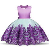 Flower Girl Dresses Formal Toddler Kids Lace Princess Party Holiday Wedding Bridesmaid