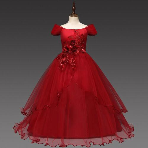 Flower Girl Dresses Kids Princess Wedding Formal Party Holiday Graduation Ball Gown