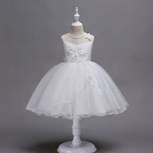 Flower Girl Dresses Kids Toddler Princess Knee Length Formal Bridesmaid Wedding Party Dress