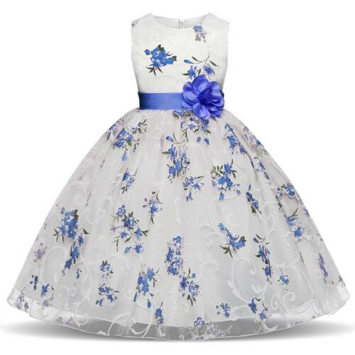 Flower Girl Dresses Todllder Kids Princess Party Holiday Floral Dress