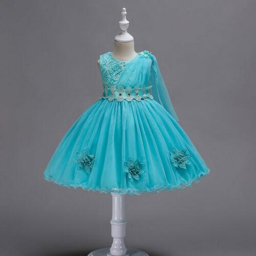 Flower Girl Dresses Kids Formal Princess Party Holiday Wedding Bridesmaid
