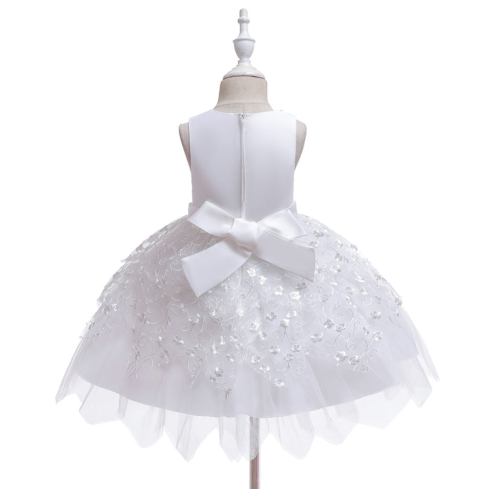 Flower Girl Dresses Sleveeless Formal Birthday Bridesmaid Princess Wedding Holiday Party