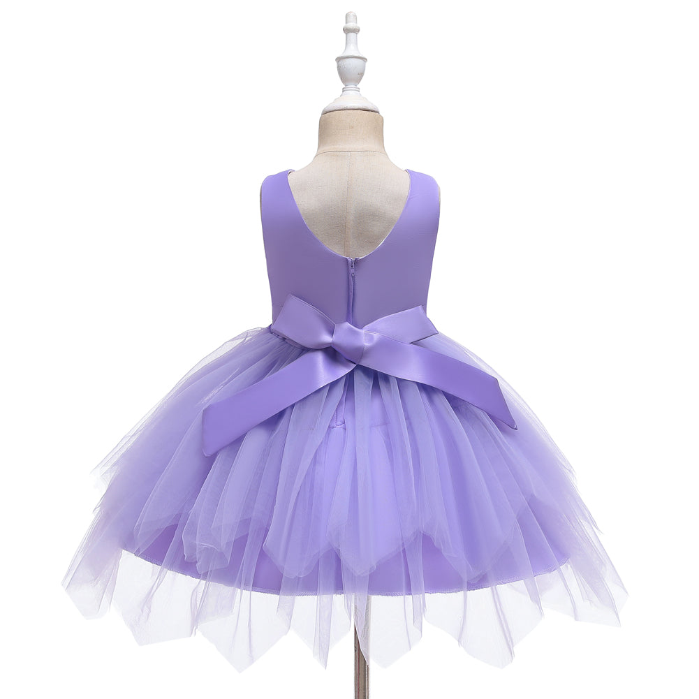 Flower Girl Dresses Formal Tutu Toddler Kids Princess For Party Wedding Birthday Holiday