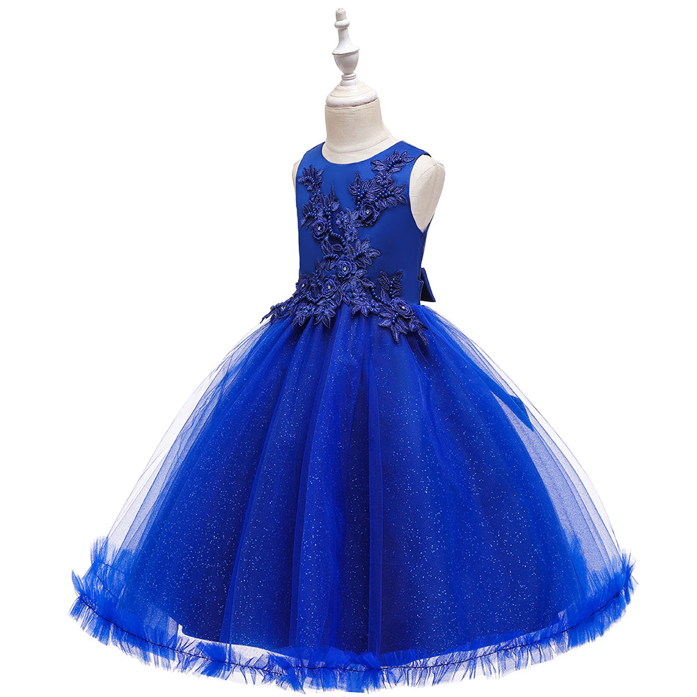 Flower Girl Dresses Kids Princess Tea Length For Wedding Formal Graduation Party