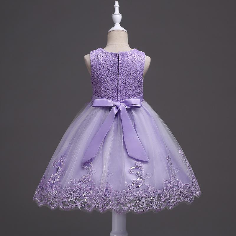 New Girl Dresses Toddler Kids Princess Formal Party Graduation Bridesmaid Dresses