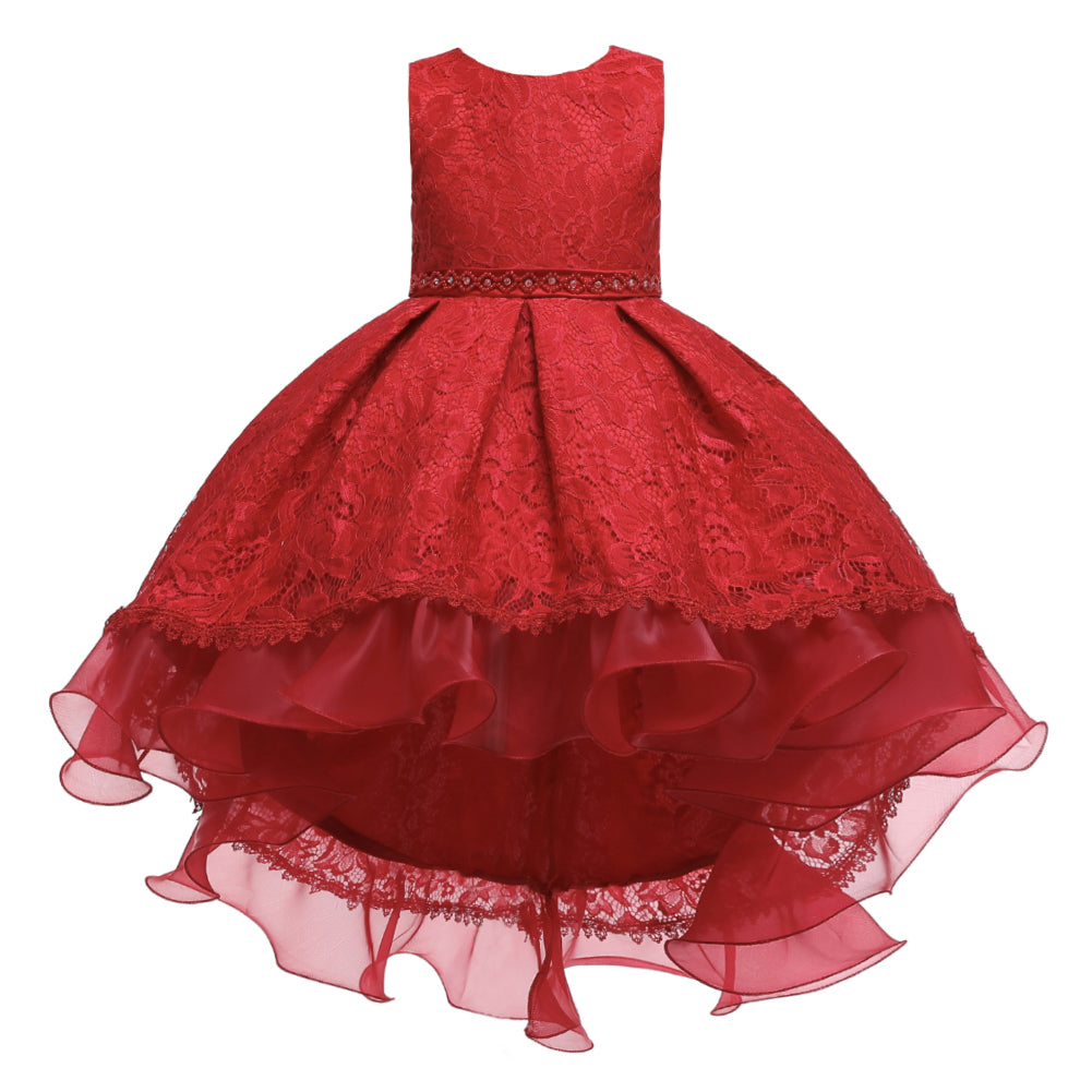 Flower Girl Dresses Trailing Wedding Formal Graduation Party Ball Gown
