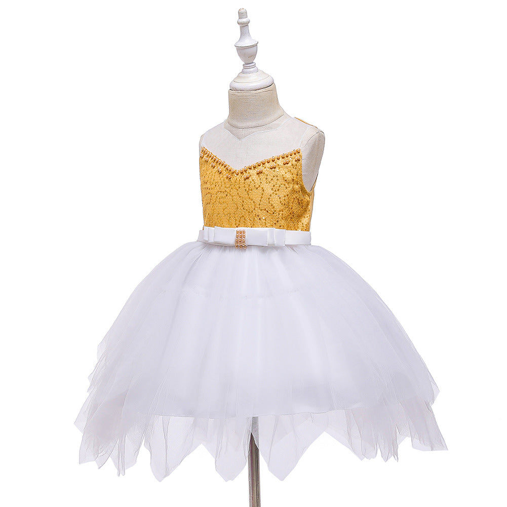 Flower Girl Dresses Toddler Knee Length Kids Princess Wedding Graduation Formal Holiday Birthday Party