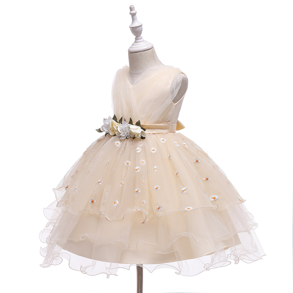 New Formal Tutu Tulle Toddler Kids Flower Girl Dresses