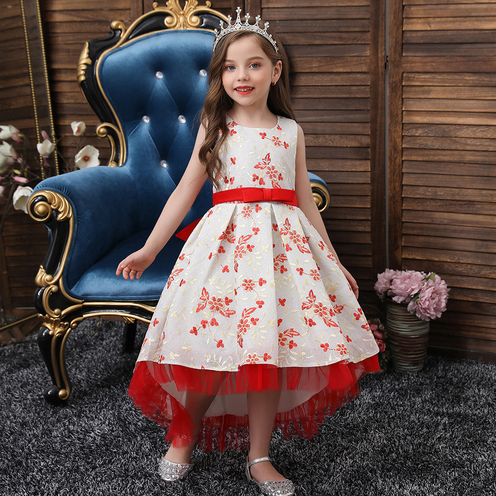Flower Girl Dresses Trailing Wedding Formal Ball Gown