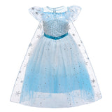 Frozen 2 Elsa Princess Sequins Girl Costume Dresses Cosplay For Holiday Birthday Party