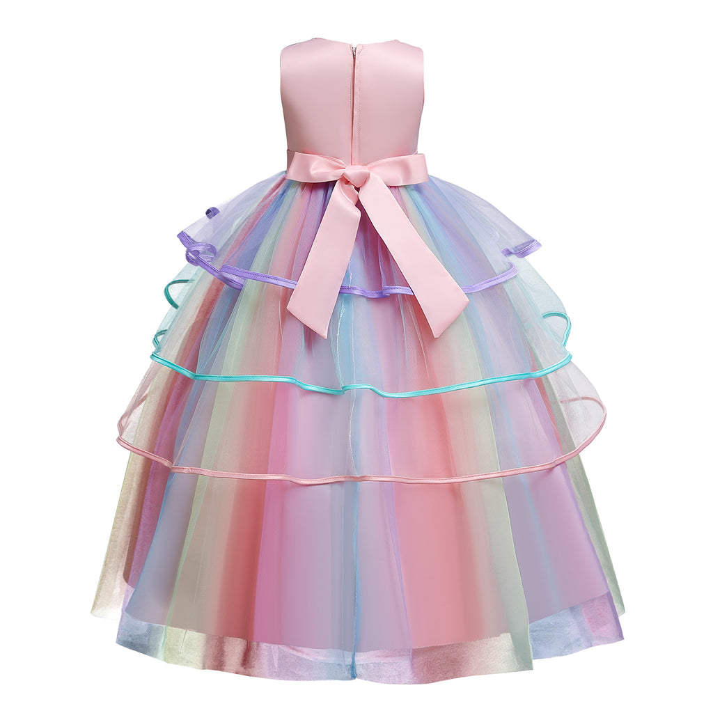 New Unicorn Girls Costume Cosplay Fancy Ball Gown Princess Tulle Dresses For Holiday Party Dance