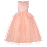 Flower Girl Dresses Formal Princess For Wedding Party Full Length Ball Gown