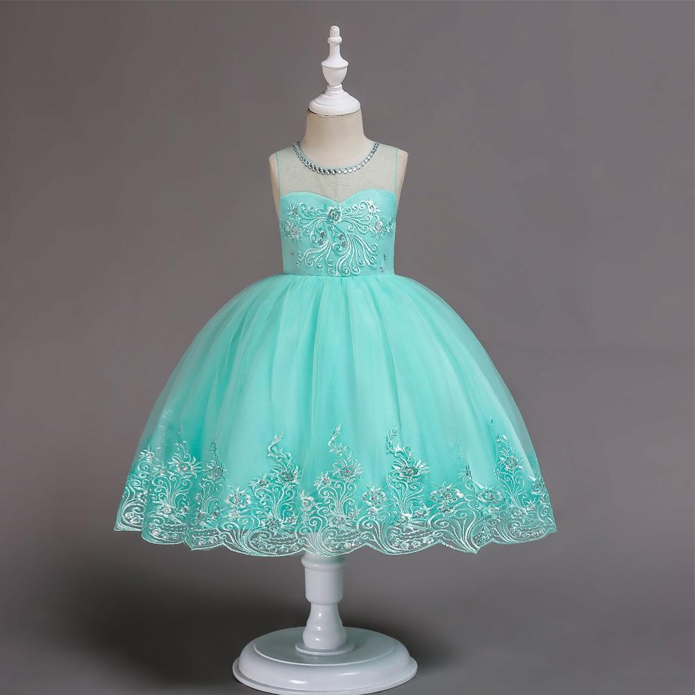 Flower Girl Dresses Lace Princess Formal Wedding Birthday Holiday Graduation Party