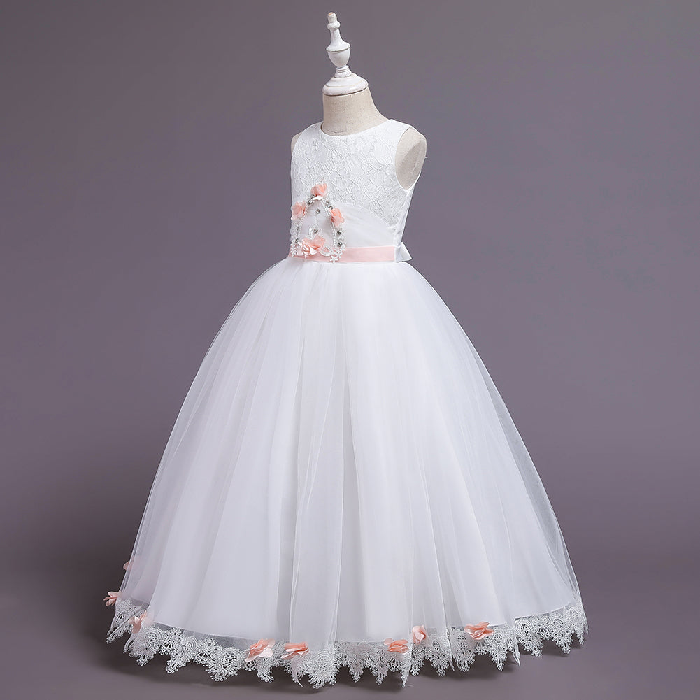 First Communion Princess Flower Girl Dresses Ball Gown