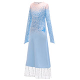 Frozen 2 Kids Girl Elsa Costume Dresses Blue Pants Coat Outfit For Party Holiday