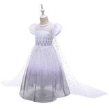 Frozen 2 Elsa Girl Costume Dresses Princess Star Sequins For Cosplay Holiday Party