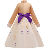 Frozen 2 Princess Cosplay Anna Costume Fancy Girls Dresses For Holiday Party