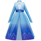 Frozen 2 Kids Girl Elsa Costume Coat Cloak Outfit For Party Holiday